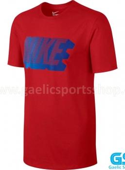 Camiseta Nike Tee Block Roja