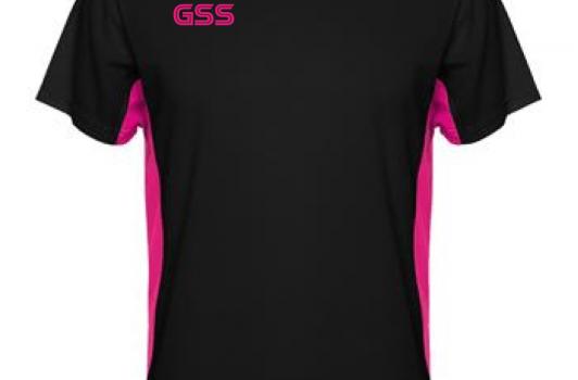 Camiseta Técnica GSS Duo Negro/Fucsia