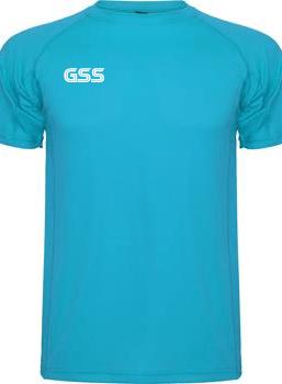 Camiseta Técnica GSS Basic Azul Cian