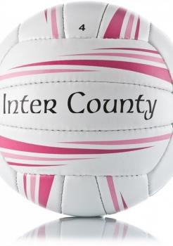 Balón O'Neills Inter County Blanco/Rosa
